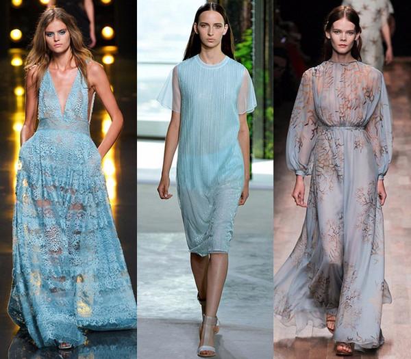 今年夏天最流行冰蓝色,时髦的人都在穿图片