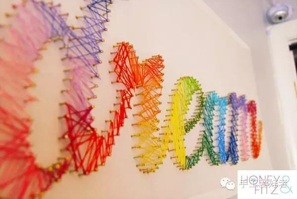 """转载需注明出自公众号""""手工爱好者"""" 彩色铅笔也可以如此装饰墙面,很图片"""