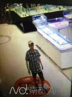 超市监控视频拍下的犯法怀疑人