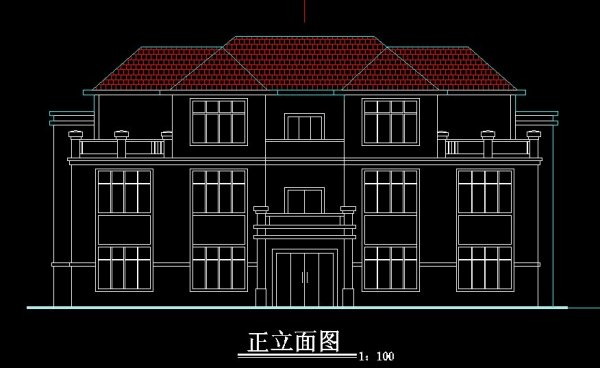 农村双拼房屋设计图