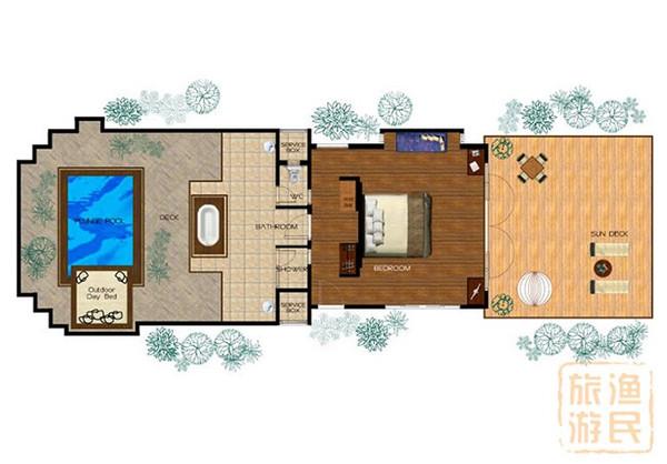 这些平房提供极为宽敞的客厅,精致的面料和设计师家具的选择范围更图片