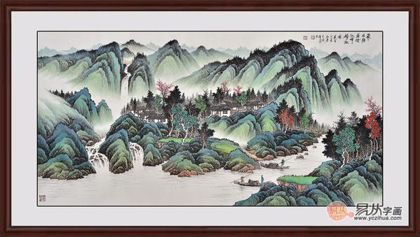 现代山水画名家作品 易从字画投资国画正当时