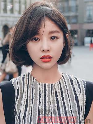 小眼睛女生发型,齐刘海还是斜刘海好?图片