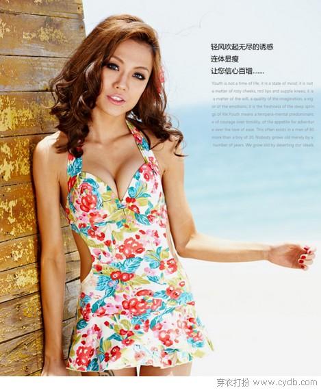秀儿是你吗-——带钢托裙式连体泳衣   07 地点:广西北海银滩   连体泳衣对于身材
