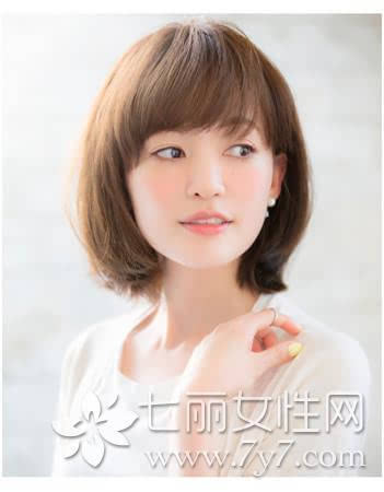 大圆脸适合的短发,大圆脸适合什么短发,大圆脸