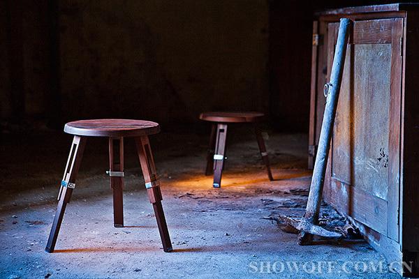 能够调节高度的木质椅子图片