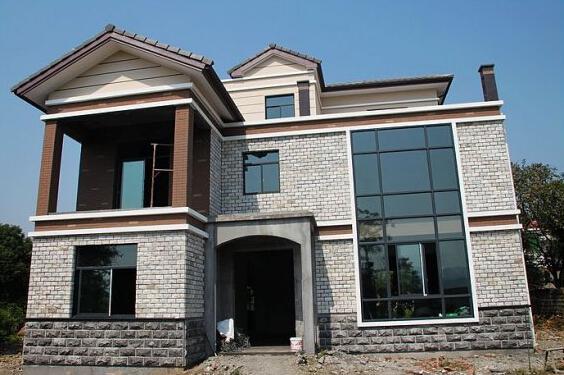 20万自建3层小别墅,全套图纸 建房过程高清图片