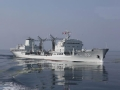 """中国最新远洋补给舰""""下水""""引关注"""