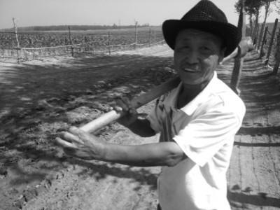 新民市红旗乡74岁的杜井先责任将乡路及村路的743个坑修平,图为乡民去种田的必经之路,雨后呈现泥淖。辽沈晚报、聊沈客户端记者 陈靖姝 摄