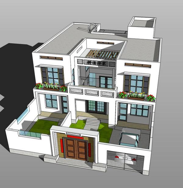 别墅式二层楼房设计方案