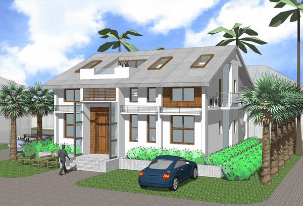 两层别墅屋顶造型
