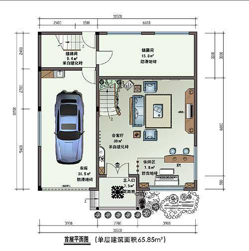 欧美别墅设计图平面图
