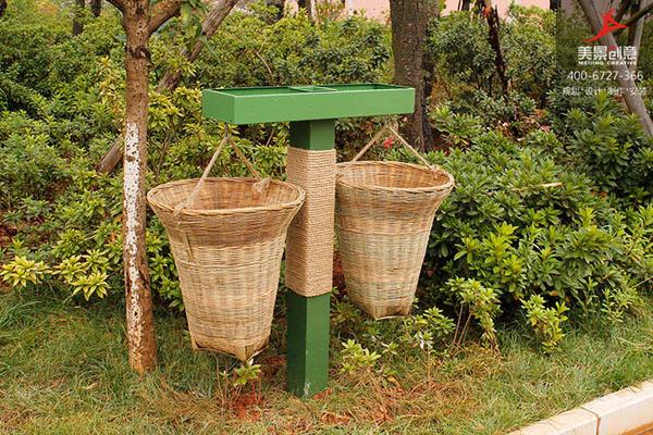 垃圾桶采用纯手工编织,整体防腐处理,注重细节,制作精美.图片