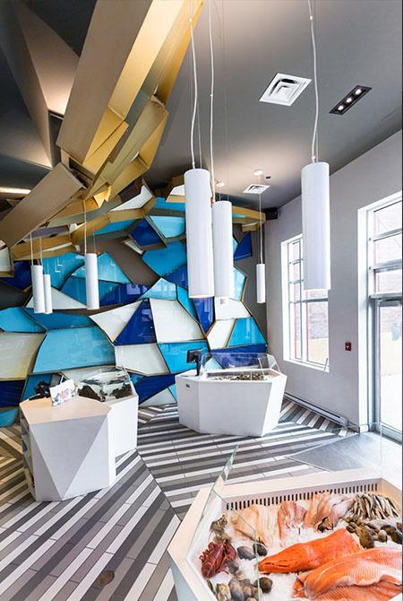 清新视觉展示设计:蒙特利尔海产店