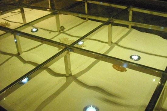 玻璃地台装修效果图机启闭cad图纸图片