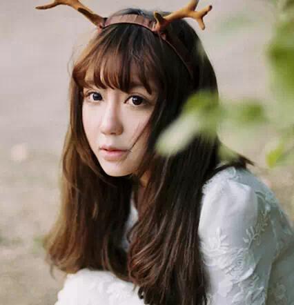 森女齐刘海发型