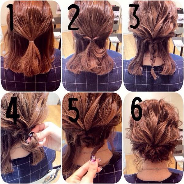 当然,如果你觉得上面这些难度太大,ilady分享三款超简单的中长发发型图片