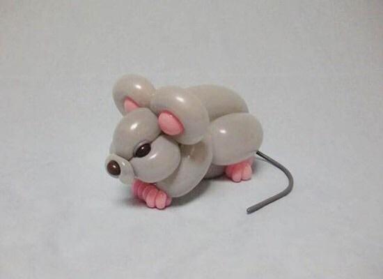 普通气球变出的小动物图片