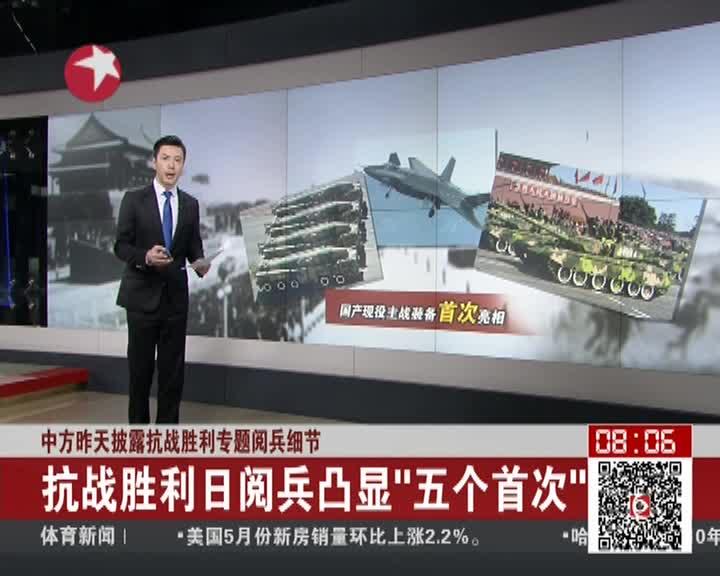 中方披露抗战胜利专题阅兵细节