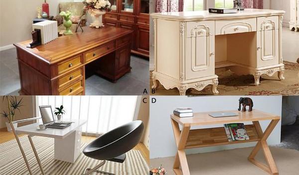 带有欧式雕刻造型的书桌