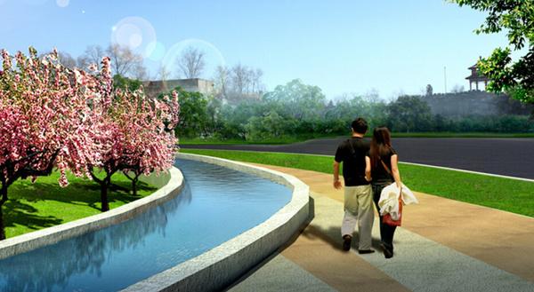 主题公园景观设计钱雕塑设计几何图片