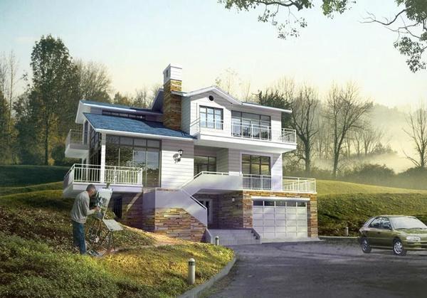 农村自建房别墅设计效果图大全