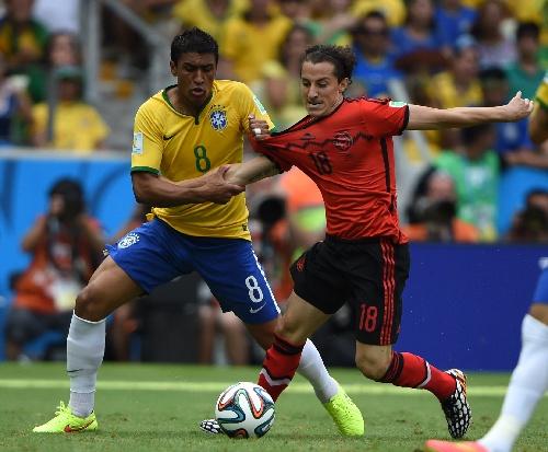 保利尼奥在世界杯同墨西哥队的比赛中