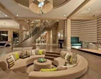 下沉式客厅设计效果图图片