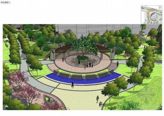 小区广场景观设计图大全