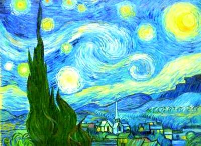 梵高名画《星空》图片