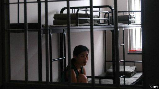 国家牢狱女犯人的人数占总囚监犯数的6.3%。(图像来历:英国播送公司网站)