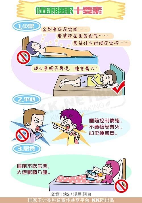 健康睡眠_健康睡眠十要素