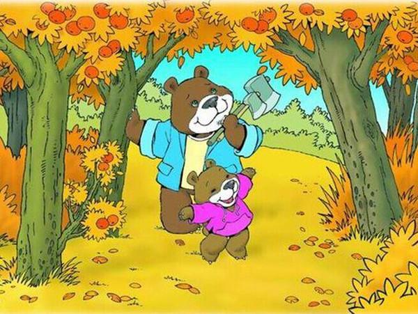 森林砍树卡通图片