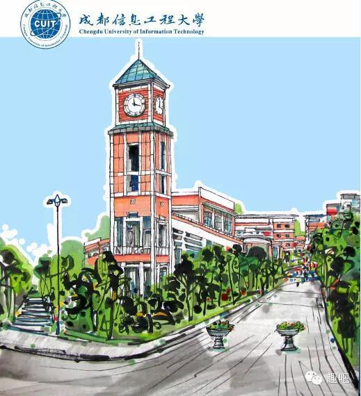 川籍画家手绘的最美大学,符合你心目中的标准