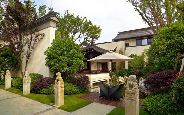 中式别墅庭院设计公司图片