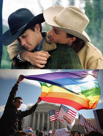 影片上映10年后,全美同性婚姻合法,两位牛仔的梦想成真了