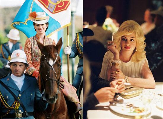 安妮-海瑟薇在《公主日记2》的拍摄间隙来试镜