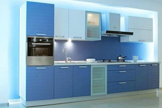 整体厨房不锈钢台面效果图