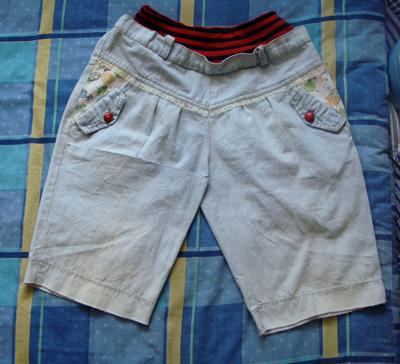 改造 我的牛仔短裤变成宝宝短裙