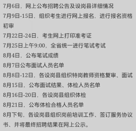 河南2015特岗教师招聘报名时间7月9-15日