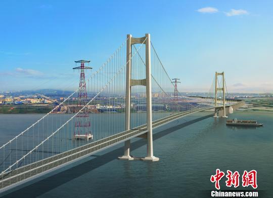 虎门二桥完成主桥基础建设,即将转入下部结构施工。 欧阳征朝 摄