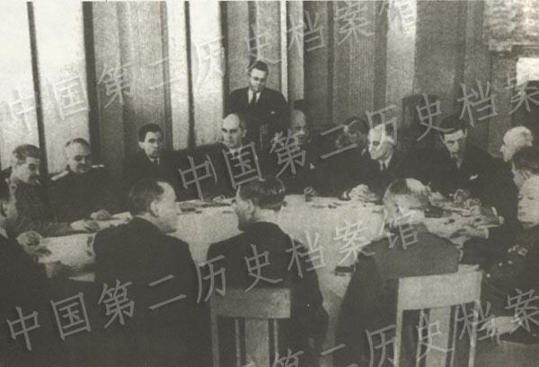 1945年2月,雅爾塔會議會場的照片