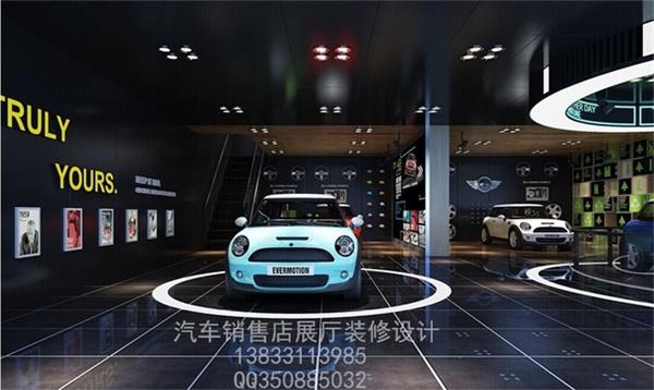 以方格为市场绘制汽车4S店装修设计导向网零线做好图片