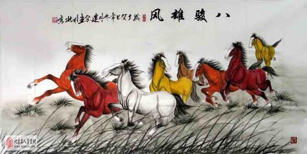 晕染全部按照马的形体结构而施加