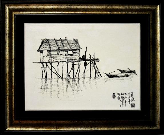 画家陈丽娜新书《黑白风景写生技法》近日出版图片