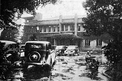 1937年7月11日,日本首相官邸外景,当天日本内阁会议通过针对华北事变经费增加预算金的决定。