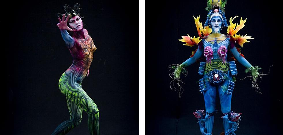 色人体高清_奥地利举办世界人体彩绘艺术节 主题\