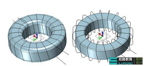 三维CAD过程:建模教程感应线圈cad轴如何锁定为z0图片