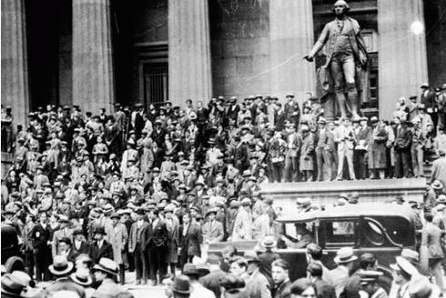 这才是股灾!1929年美国股市大崩盘数千人跳楼