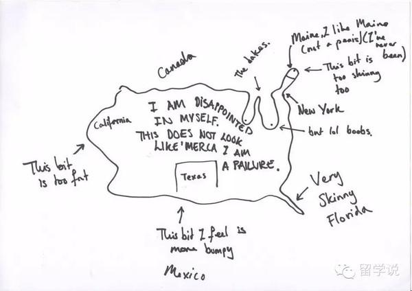画出印象中的美国地图
